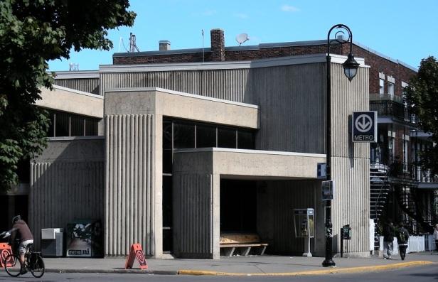 Architecture Brutalisme Montréal Station De l'Église