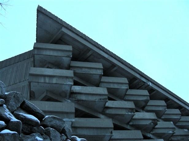 Architecture Brutalisme Montréal Stationnement UdeM