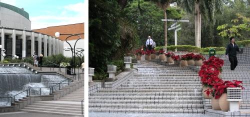 Escaliers d'eau Montréal et Hong Kong