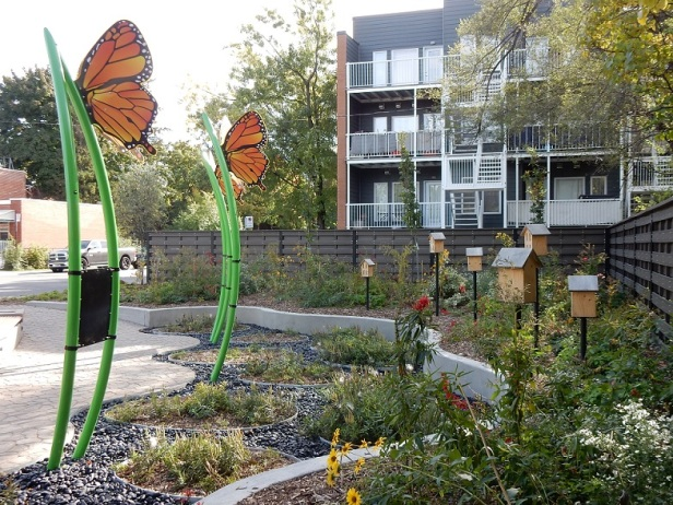 Jardin Marcelle-Gauvreau Montréal Papillons