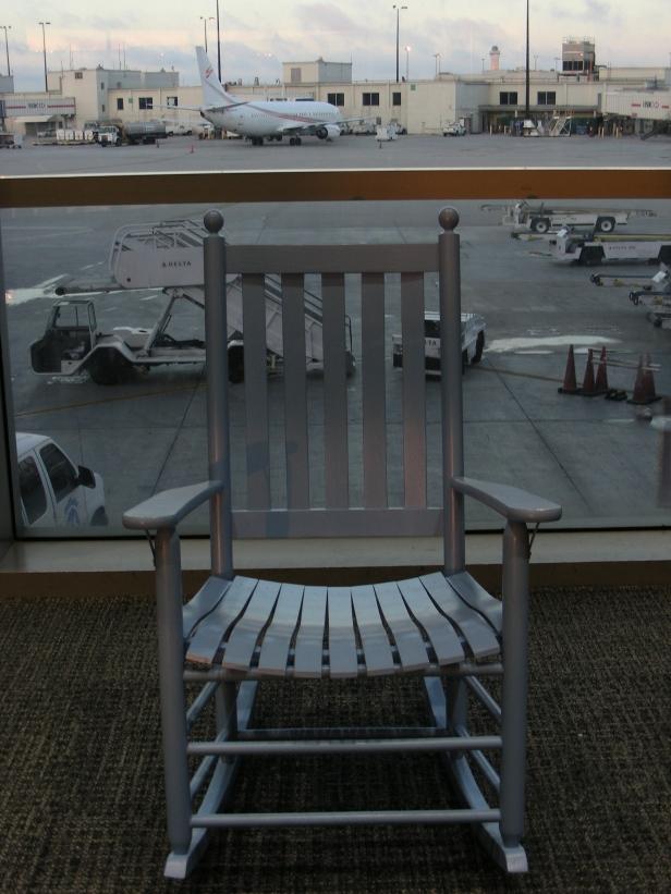 Chaise berçante aéroport de Miami
