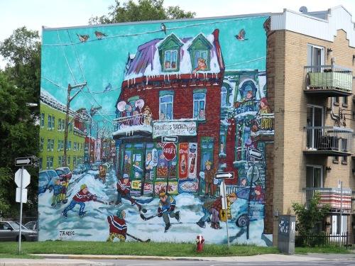 Murale Le Montréal de Miyuki Tanobe (Verdun)