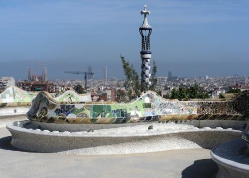Banc public Barcelone Parc Guell