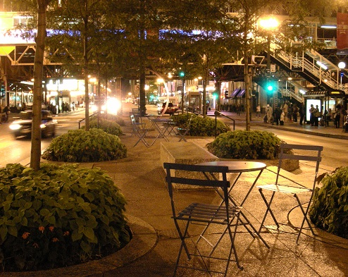 Chaises publiques Chicago