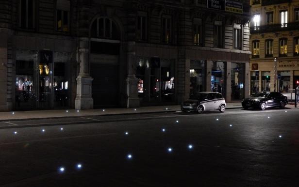 3 Trottoir Lyon lumières