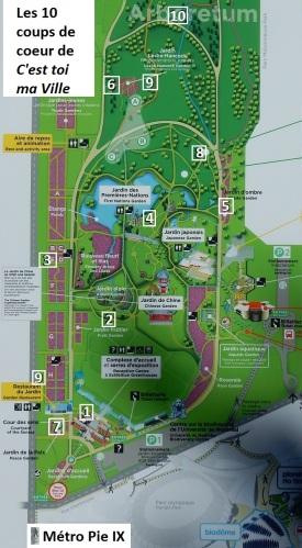 Jardin botanique de Montréal - Carte2