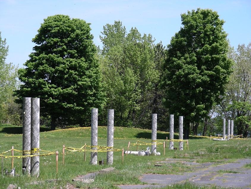 Montréal Éclairage Lampadaire Expo67 restes