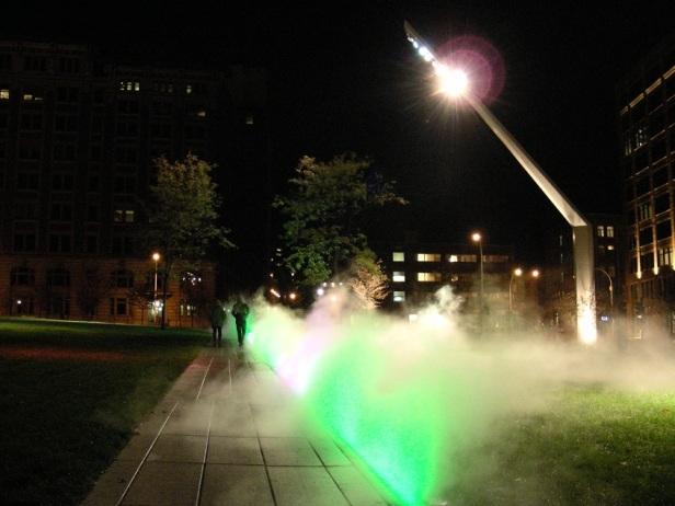 Montréal Éclairage Lampadaire Parterre Quartier des spectacles