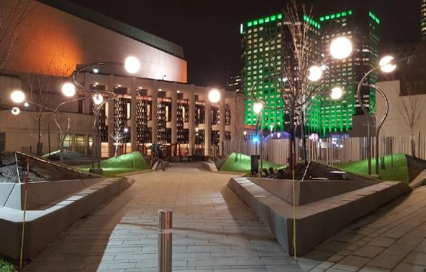 Montréal Éclairage Lampadaire Place des Arts