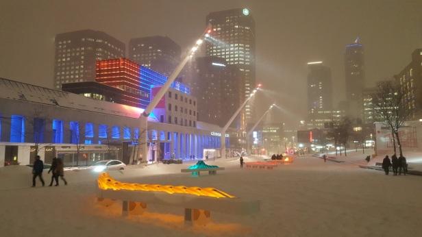 Montréal Éclairage Lampadaire Quartier des spactacles