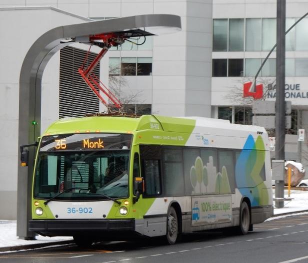 Autobus électrique STM Montréal Gala de l'environnement
