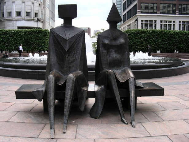 Banc sculpture Londres