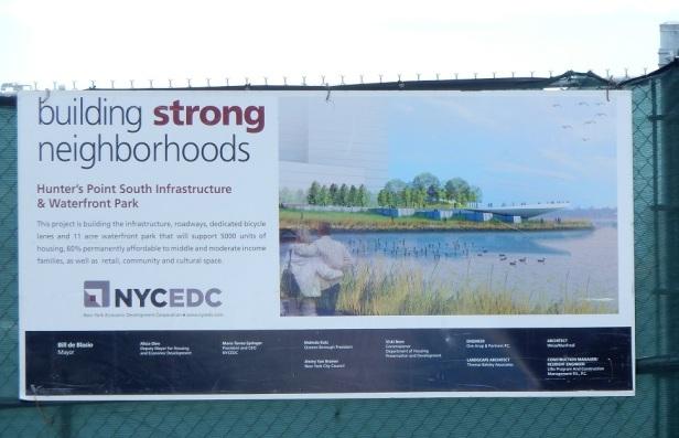 01 Bords de l'eau à New York affiche