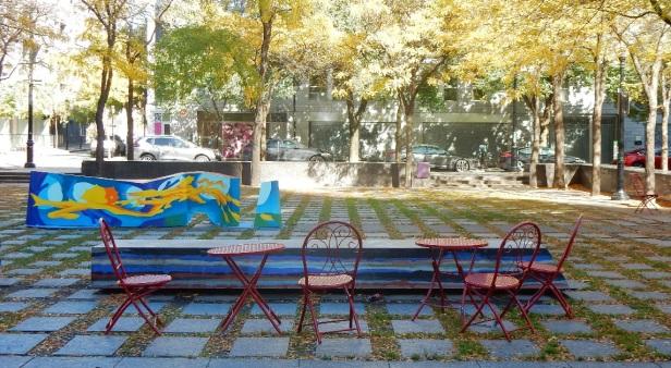 Bancs publics chaises libres Montréal